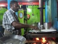 Restaurace v Rameswaram. Tamil Nadu, Indie