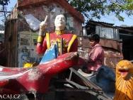 Kolotoc. Rishikesh, Uttarakhand, Indie