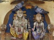 Holubi. Rishikesh, Uttarakhand, Indie