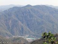 Pohoří. Rishikesh, Uttarakhand, Indie