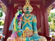 Barevná socha. Chiang Mai, Thajsko