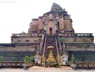 Starý Buddhisticky Chrám. Chiang Mai, Thajsko