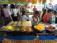 Thajská kuchyňi. Bangkok, Thajsko
