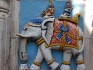 Slon - reliéf. Udaipur, Rajasthan, IIndie