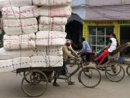 Nákladní rikša ve Varanasi, Uttar Prades