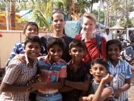 Indické děti. Varkala, Kerala, Indie