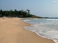Na pobřeží. Varkala, Kerala, Indie