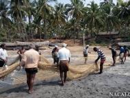 Rybáři - Varkala, Kerala, Indie