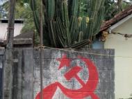 Komunistické symboly v Kerale. Indie