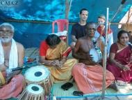 Klasická Indická hudba. Varkala, Indie