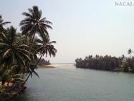 Zátoka. Varkala, Kerala, Indie
