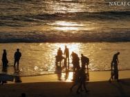 Večer na pobřeží. Varkala. Kerala, Indie