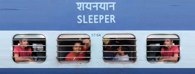 Indický vlak - Sleeper Class S3