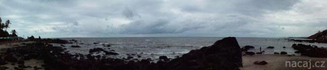moře mraky počasí Arambol, Goa