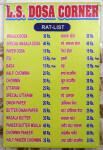 Cena jídla v restauraci. Varanasi, Indie