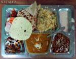 Thali. Jídlo-Varanásí. Indie