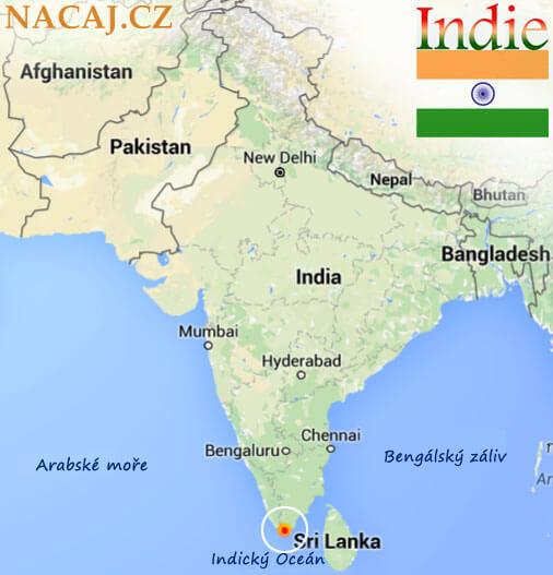 Kanyakumari, Tamil Nadu, Indie. Mapa
