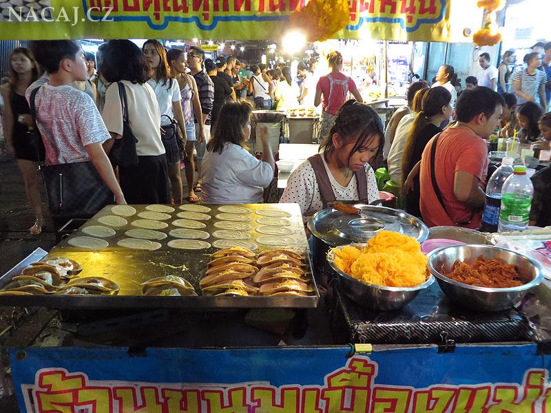 Bangkok, Thajsko - skvělé jídlo v ulicích
