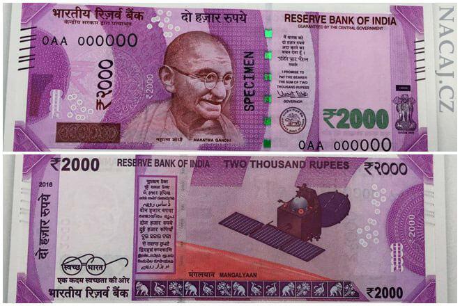 2000 Rupií - nové bankovky - Indie