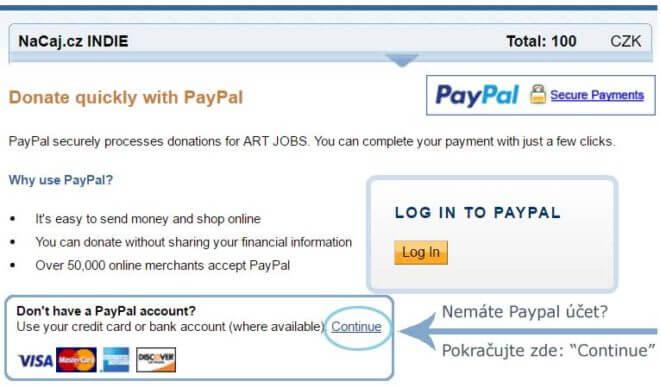 Jak použít kartu na PayPal
