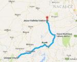 Mapa: vlak: Udaipur - Bundi - Jaipur