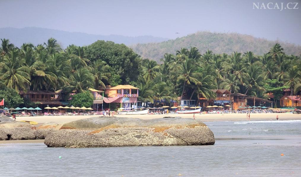 Palolem Beach. Pláže v Goa. Indie