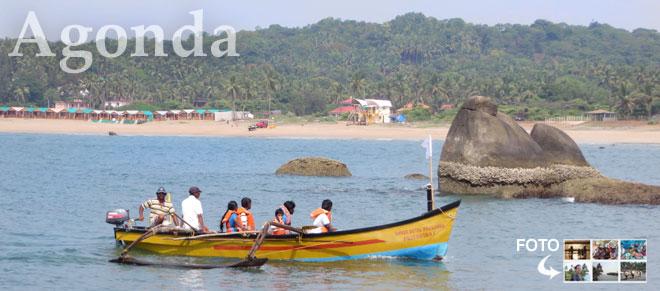 Agonda, Goa. Fotografie z Indie.