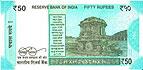 50 Rupií. Nová Indická bankovka.