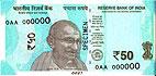 Nová Indická bankovka: 50 Rupií