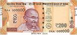Indická Rupie - 200 INR