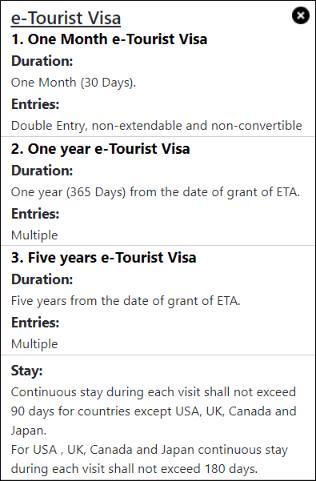 e- viza = touristická víza Indie 2020