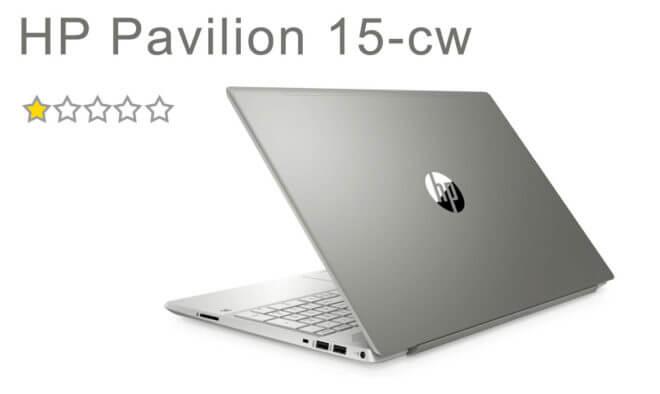 Notebook HP Pavilion 15-cw. Recenze